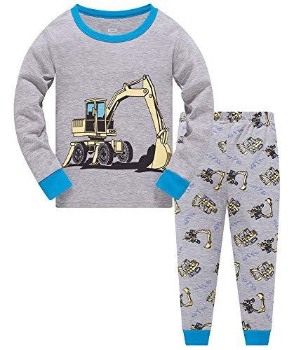 Schlafanzüge für Jungen Weihnachten Pyjamas Kinder Zweiteiliger Baumwolle Schlafanzüge