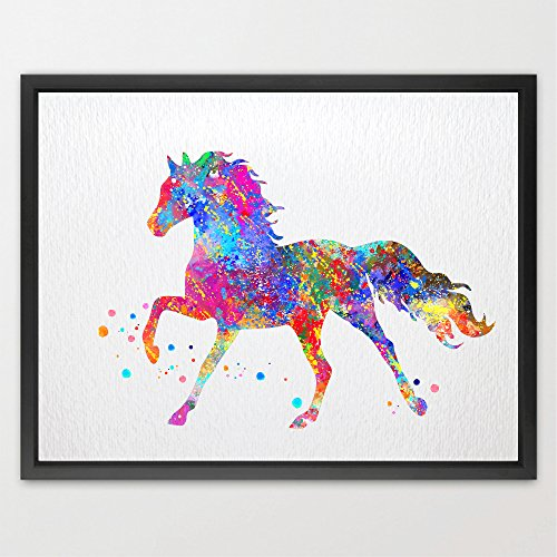 Dignovel Studios 8X10 Unframed Horse Watercolor Art Print Baby Shower Nursery Wall Fine Art Print Kids Playroom Decor N104