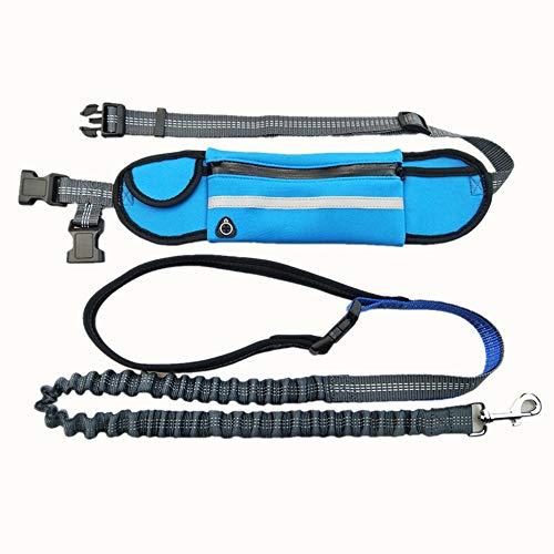 YAMEIJIA Waterdichte heuptas, Sport Loopt trekkoord, Multi-Functionele Tractie hond touw 2,5 cm * 140 cm, Blue