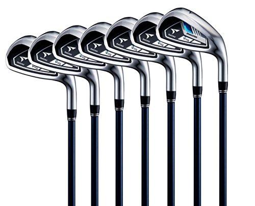 Bridgestone Golf Herren ViQ Eisensatz 6-PW, PS, SW Regular Golfschläger, Blau, M