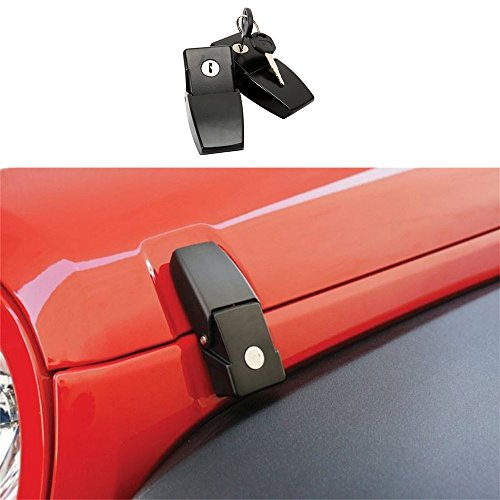 drizzle Hood Lock Assembly Catch Latches Kit for Jeep Wrangler JK Unlimited 20072008 2009 2010 2011 2012 2013 2014 2015 2016