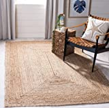 Fernish Décor Handwoven Jute Area Rug- Natural Yarn- Rustic Vintage Braided Reversible Rug (4 x 6 Feet)