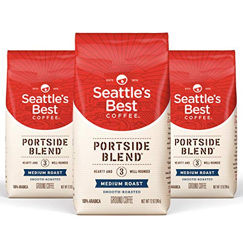 Seattle's Best Coffee Portside Blend Medium Roast Ground Coffee, 12 Ounce (Pack of 3)