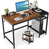 Nisear Escritorio de Computadora, Mesa de Ordenador Escritotio Estructura de Acero con Estantes Ajustables, Mesa de Estudio Portátil Grande para Oficina en Casa