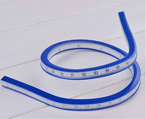 "WellieSTR 20""(50cm) Flexible Curve Ruler for designers and pattern makers easy to use accurate"