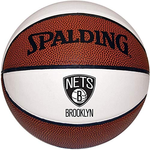 Find Bargain Spalding Brooklyn Nets NBA 3 White Panel Autograph Signature Series Full Size Basketbal...