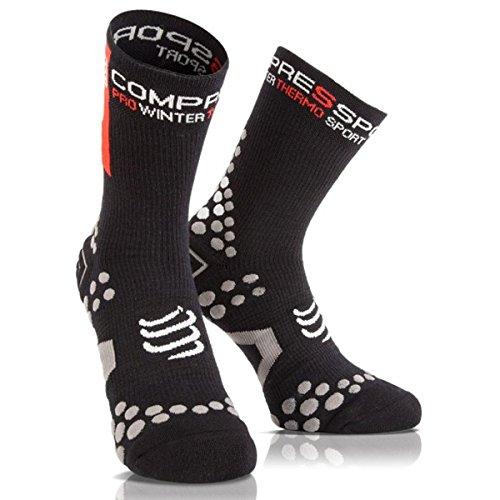 COMPRESSPORT - Pro Racing Socks V2.1 Winter Bike, Color Black, Talla EU 37-39