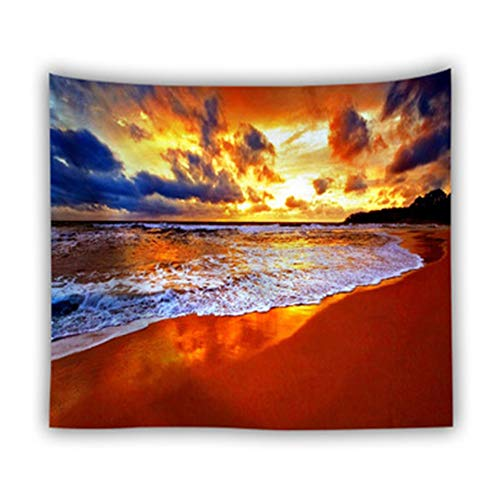 Qiaoqi Tapestry Wall Hanging ,Background Hippie Sunset Sky seaPhotographing Background Cloth Bedroom  Decoration remodeling Tapestry Sofa Layout Hanging Painting