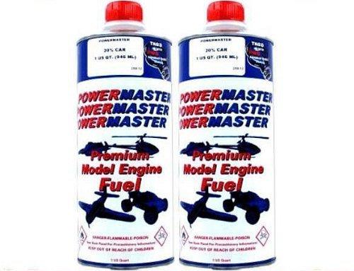 POWER MASTER ~ TWO Quarts of 20% Nitro Fuel ~ Premium Model Engine Fuel