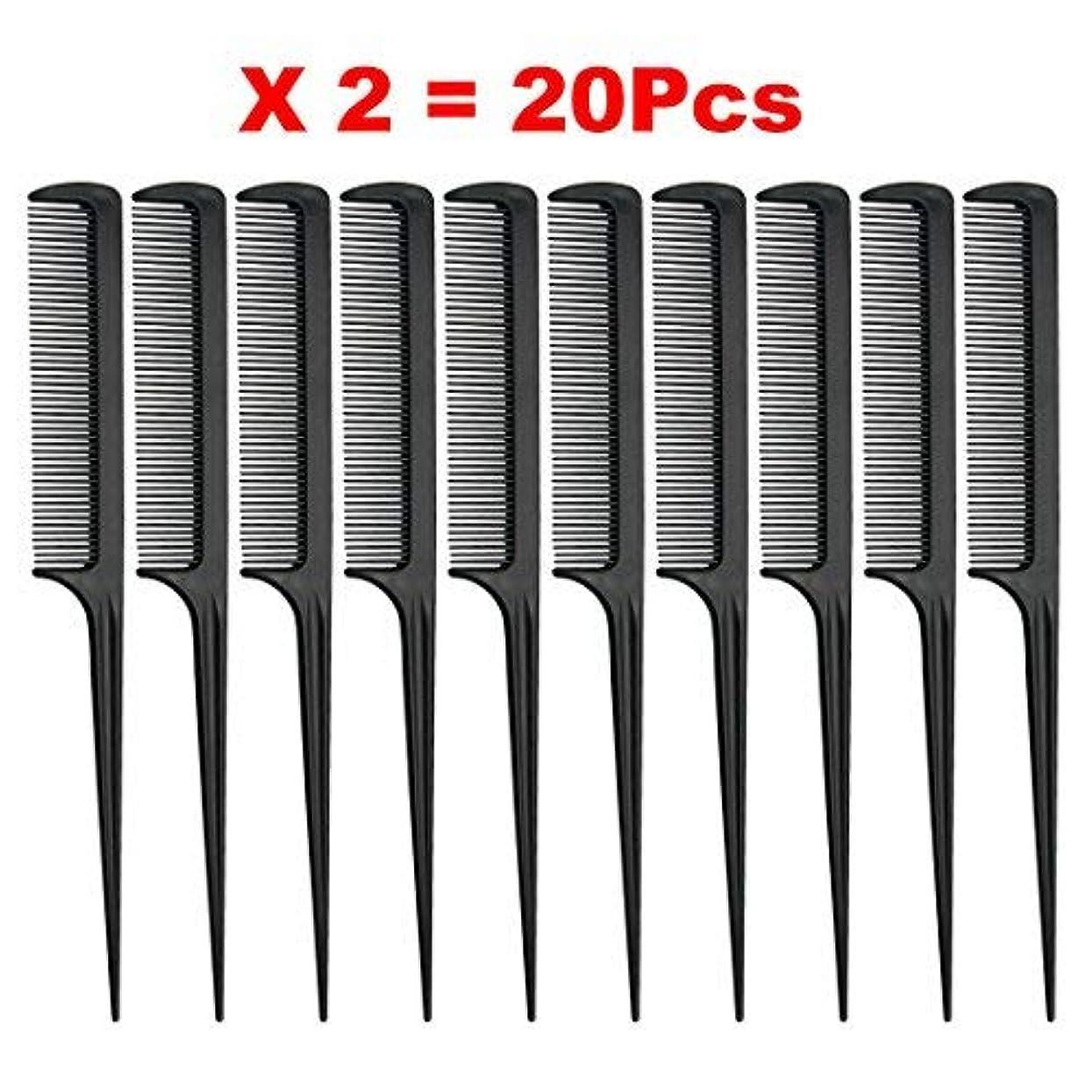 意外失う一見Rat Tail Comb, Black, 8.3 Inch - Pack of 20 (Tail Comb) [並行輸入品]