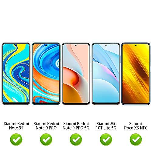 ANEWSIR 3 Stück Panzerglas Schutzfolie Kompatibel mit Mi 10T Lite 5G / Xiaomi Redmi Note 9S/Note 9 Pro/Note 9 Pro 5G/Poco X3 NFC, [Anti-Kratzen] [Blasenfrei] Displayschutzfolie Folie.