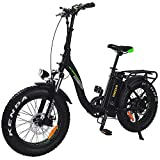 Addmotor MOTAN Folding Electric Bicycle 750W Motor 20 inch Fat tire Step-Thru E-Bikes with Removable 11.6Ah Lithium Battery M-140 P7 (Green)