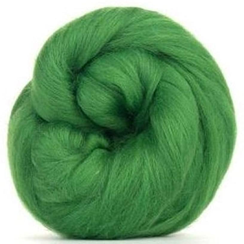 4 oz Paradise Fibers 64 Count Dyed Grass (Green) Merino Top Spinning Fiber Luxuriously Soft Wool Top Roving for Spinning with Spindle or Wheel, Felting, Blending and Weaving