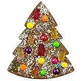 ChocoTannenbaum mit süßen Zutaten - dekorierte Schokoladentafel in Form eines Weihnachtsbaumes |...