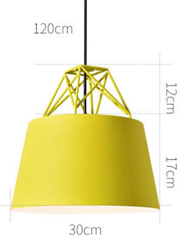 LSY-NARIV Nordisch Kreativ Eiserne Kunst LED-Deckenleuchter, Restaurant Wohnzimmer  Cafe Schlafzimmer  Badezimmer Licht,Gelb