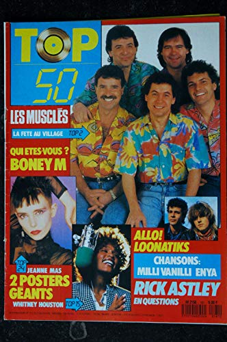 TOP 50 161 1989 LES MUSCLES BONEY M RICK ASTLEY + 2 POSTERS JEANNE MAS WHITNEY HOUSTON