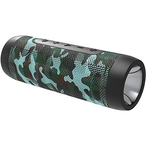 CHYSP Bluetooth-Lautsprecher beweglichen drahtlose Lautsprecher-Stereo-Musik-Surround-Outdoor-Lautsprecher-Box mit Taschenlampe (Color : B)