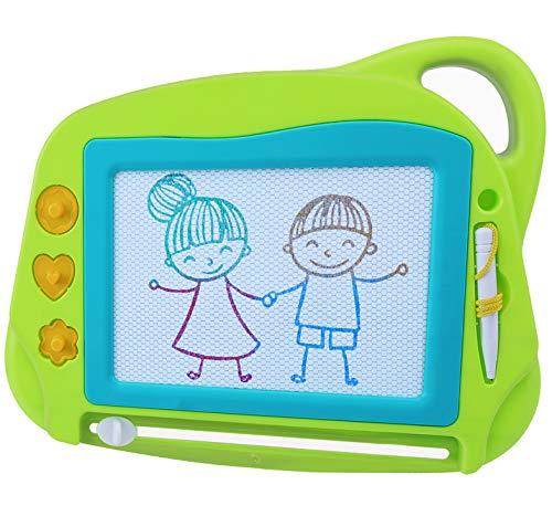 AiTuiTui Lavagna Magnetica per Bambini, 4 Colori Colorati Lavagnetta Magica Portatile Cancellabile con 3 timbri magnetici e 1 Penna-Giocattoli da Disegno Dimensioni da Viaggio per Bambini 3 4 5 Anni
