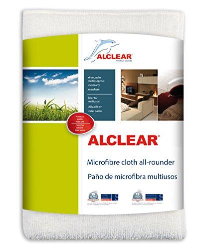 ALCLEAR 950007 Chiffon Microfibre Allrounder, Blanc, 32x32 cm