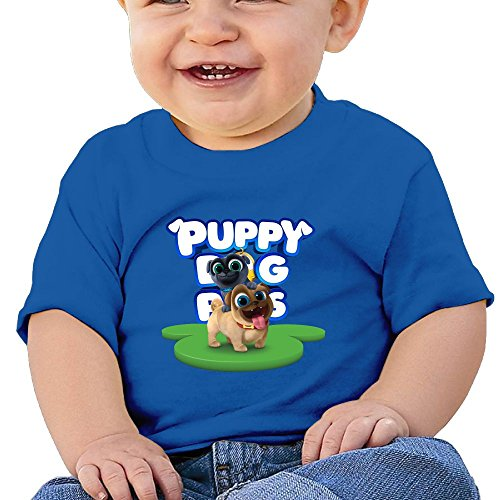 Puppy Dog Lovely Pals Baby Novelty Short Sleeve Tank Top Cotton T-Shirt RoyalBlue 12 Months