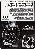Lesley Coleridge 1968 Omega Speedmaster Reloj - Géminis - Apollo Moon Astronaut réplica de metal signo 7' x 10'