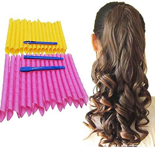 Yeelight 30 Curlies Lockenwickler für magisches Haar, 30 Lockenwickler ohne Wärme und 1 Stylinghaken, für extra langes Haar bis 55cm