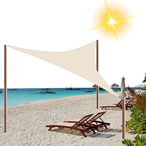 HRD Anti UV Sun Shade Sail Triángulo 2x2m 3x3x3m toldo de protección solar a prueba de viento toldo para playa patio trasero césped aparcamiento caqui gris azul