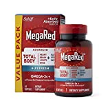 Omega-3 Megared Krill Oil Advanced Total Body + Refresh Heart, Joints, Brain, Eyes, 65 Softgels (Pack of 2)