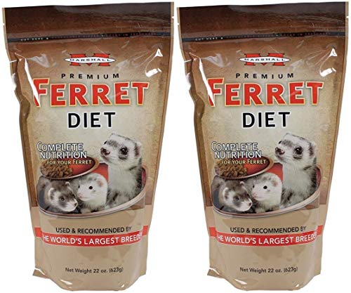 Marshall Pet Products 2 Pack of Premium Ferret Diet, 22 Ounces Per Pack