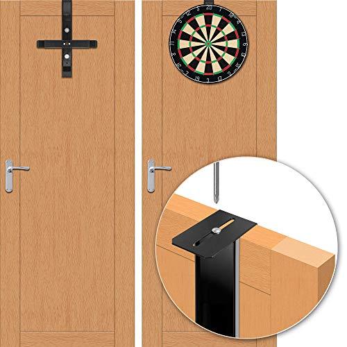 Tragbarer Türhänger Pro – Türhängesystem mit Wandhalterung Pro – Schwarz