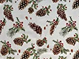 Provencestoffe.com Wunderbarer Weihnachtsstoff, Panama-PE,