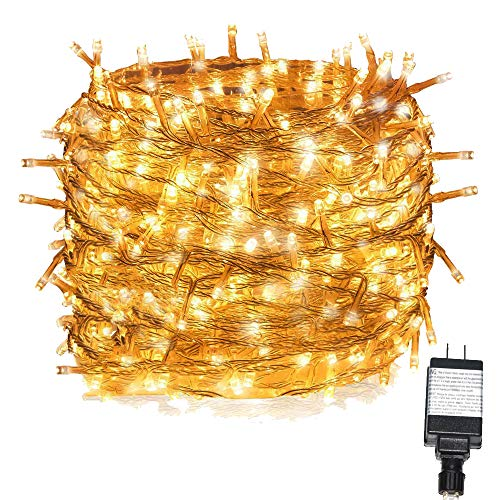 INST Solar Powered Long Lasting LED String Light, Ambiance Lighting, 54.5ft 17m 100 LED Solar Fairy String Lights for Outdoor, Gardens, Homes, Christmas Party (Warm white)