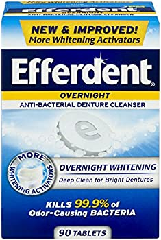 90-Count Efferdent PM Denture Cleanser Overnight Whitening Tablets