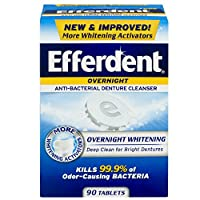 Efferdent Overnight Denture Cleanser Pm 78 Tablets Each (Pack of 2) by Efferdent