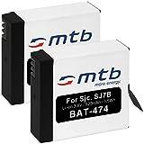 2X Baterías para Actioncam SJCAM SJ7 Star 4K NATIV WiFi (Black/Silver/Rose Edition), SJ7000 Star