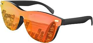 f4b2ea52e0 FEIXIANG Lunettes De Soleil Polarisée homme femme, Unisexe Lunettes de  Soleil Vintage UV Protection Rétro