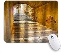 KAPANOUマウスパッド 古代の建物のテーマ ゲーミング オフィス最適 高級感 おしゃれ 防水 耐久性が良い 滑り止めゴム底 ゲーミングなど適用 マウス 用ノートブックコンピュータマウスマット