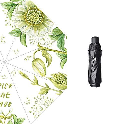 Paraplu drievoudig gevouwen zonnescherm UV-paraplu, reis-zonnescherm winddicht, overkapping automatisch waterdichte zonwering overgroot