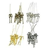 MagiDeal 24 Stücke menschlicher Skeleton Körper förmig Puppen Anhänger für DIY Halskette