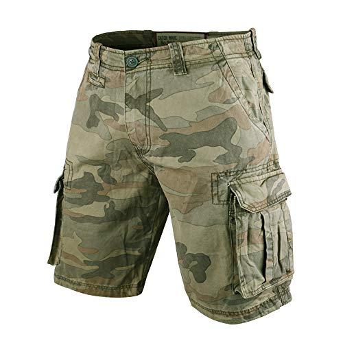 Muscle Alive Herren Cargo Shorts Jahrgang Savage Vintage Kurze Hose Sport Camping Wandern Tarnen Baumwolle