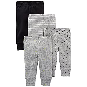 Stripe Solid Essentials 4 Pull-on Pant Casual Newborn Navy and Grey Pack