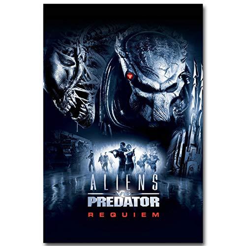 manyaxiaopu Alien Vs Predator 3 Art Silk Poster Print Classic Science Fiction Movie Picture For Living Room Decoración De Pared Pintura Sin Marco B23 40X60Cm