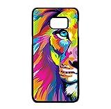 THEcoque Coque Silicone Bumper Souple Samsung Galaxy S6 Edge -Lion Tigre Animaux Mignon Motif...