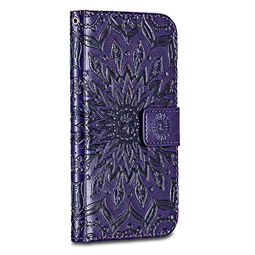 iPhone 6 Plus / iPhone 6S Plus Case Cover, Casake [Ripple] [High Quality Pu Leather] [Card Slot] [Wallet Leather Flip Case] for iPhone 6 Plus / iPhone 6S Plus Case, Purple