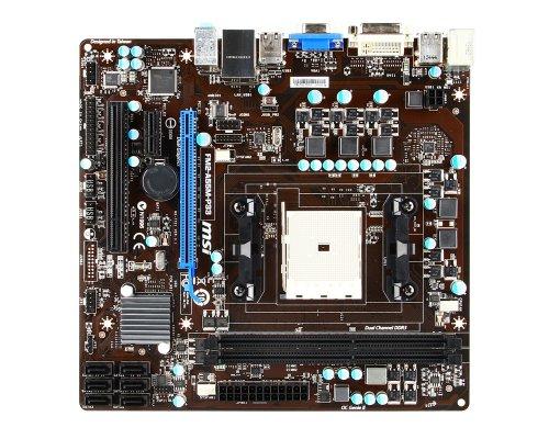 MSI FM2-A55M-P33 moederbord socket FM2 (micro-ATX, AMD A55, VGA, DVI, 2x DDR3 geheugen, 6x SATA II, 8x USB 2.0)