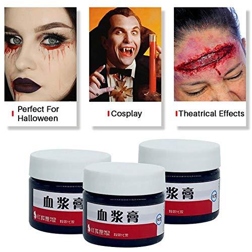 NiQiShangMao 3 stücke DIY cos Halloween Make-up Ultra realistische gefälschte Blut Gesicht malen Simulation von menschlichen Vampir auf Requisiten Festival Party Supplies
