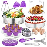 TeamFar Pressure Cooker Accessories, 17 Pieces 8 / 6qt Instant Air Fryer Crock Pot Accessories, Healthy & Toxic Free, Multi-use & Functional, Dishwasher Safe & Easy Clean camping pots May, 2021