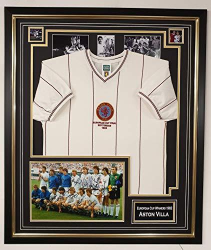 WWW.signiertes Foto mit Trikot von 1982, Aston Villa, signiert