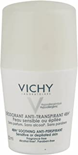 Vichy Deodorant 48 Hour Soothing Anti-Perspirant Roll-On For Sensitive Skin 48 Hour, 50 ml