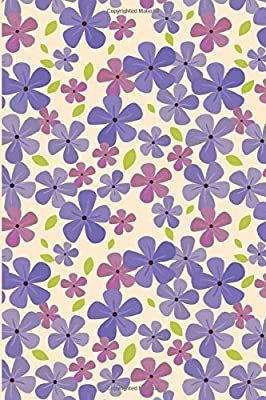 Purple Flower Patterned Daily Writing Journal with Lined Pages